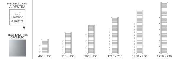 schema scaldasalviette cromato 230mikee8