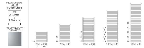 schema scaldasalviette cromato 430mikesx