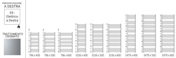 schema scaldasalviette cromato domie8