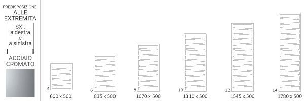 schema scaldasalviette cromato zigzagsx