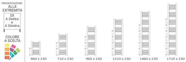 schema scaldasalviette mike 230 sx