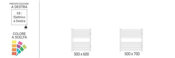 schema scaldasalviette orizzontale limae8