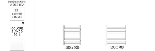 schema scaldasalviette orizzontale limae8b