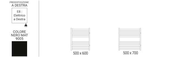 schema scaldasalviette orizzontale limae8n