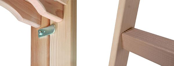 dettagli scaletta legno 71490
