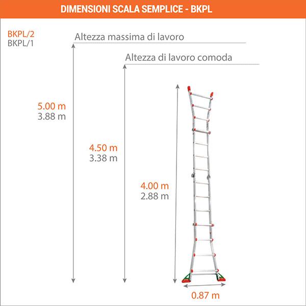 dimensioni scala semplice BKPL