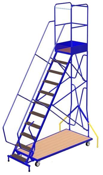 Scaletta con piattaforma