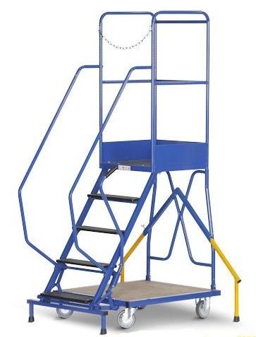 scaletta con piattaforma con 5 gradini