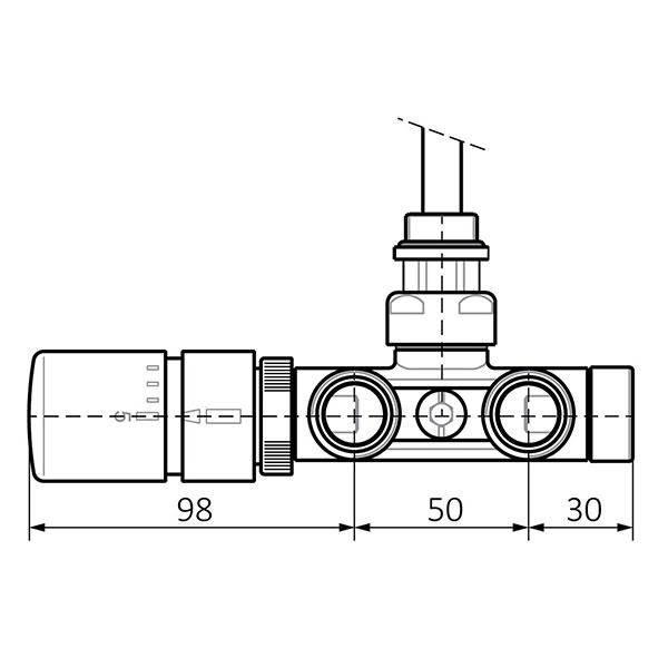 dimensions kit vanne thermostatique v2 mur dos
