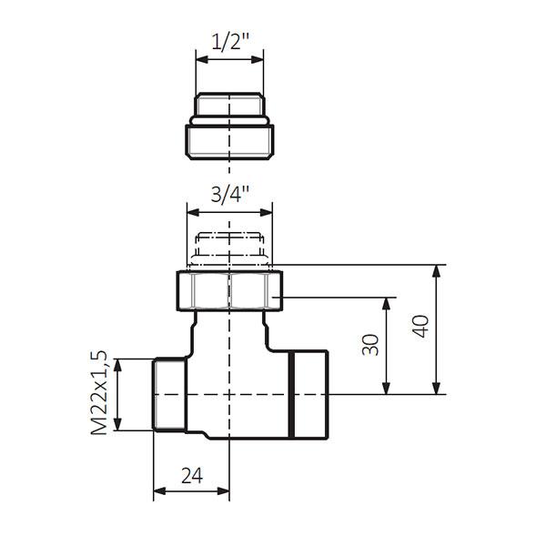 dimensions vanne arret double mur 1