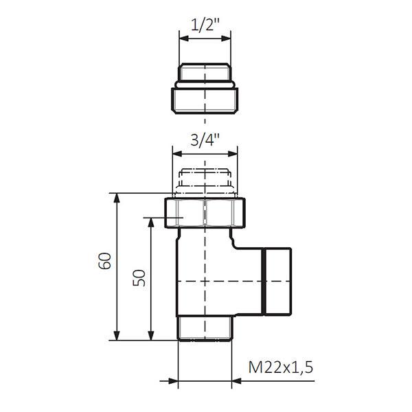 dimensions vanne arret double sol 1