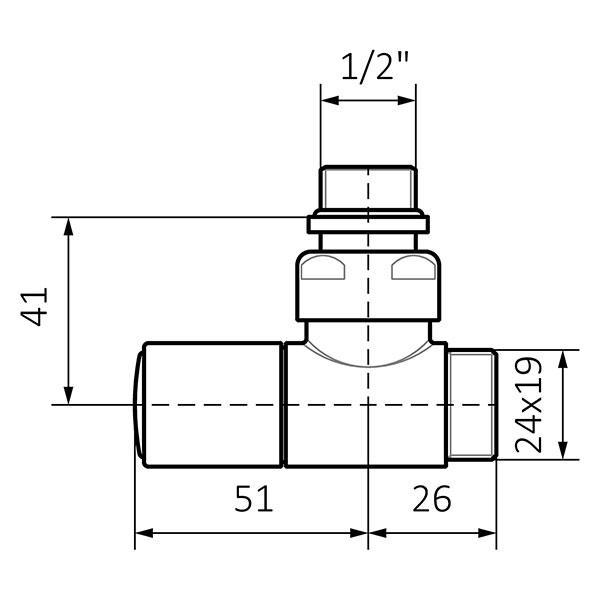 dimensions vanne reglage