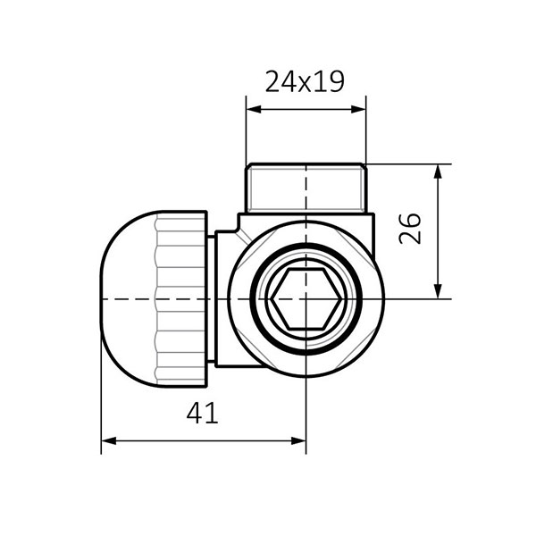 dimensions vanne thermostatique triaxe murhaut
