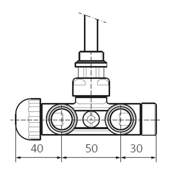 dimensions vanne thermostatique v2 mur profil