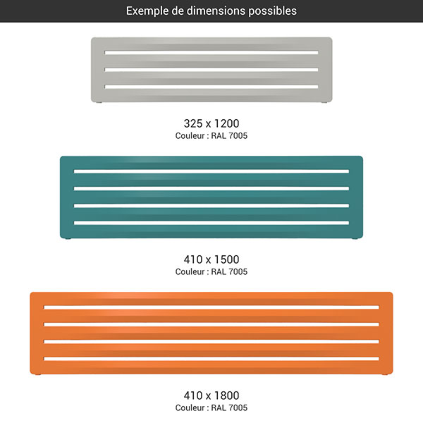 gamme seche serviettes horizontal aero couleur