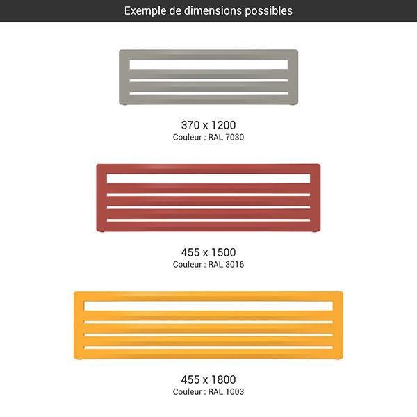 gamme seche serviettes horizontal aero g couleur