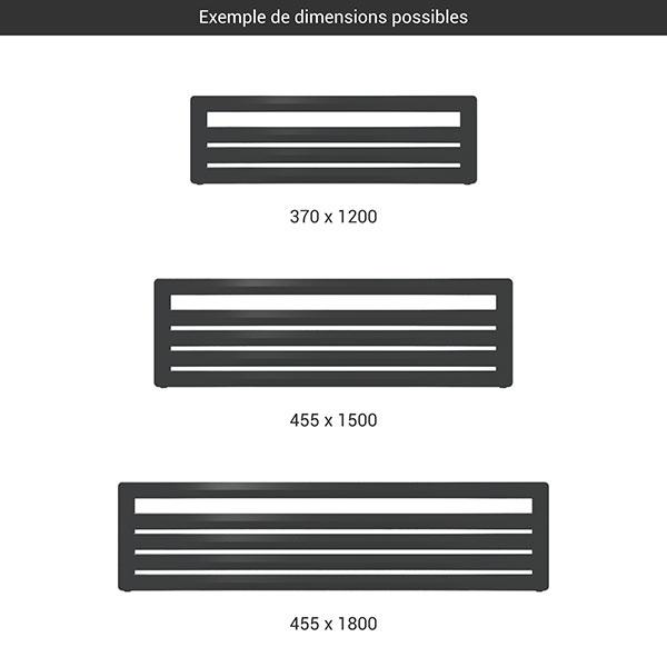 gamme seche serviettes horizontal aero g noir