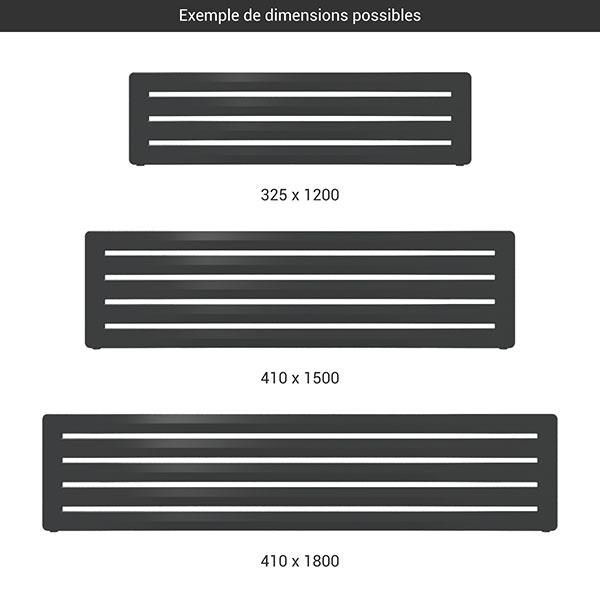 gamme seche serviettes horizontal aero noir
