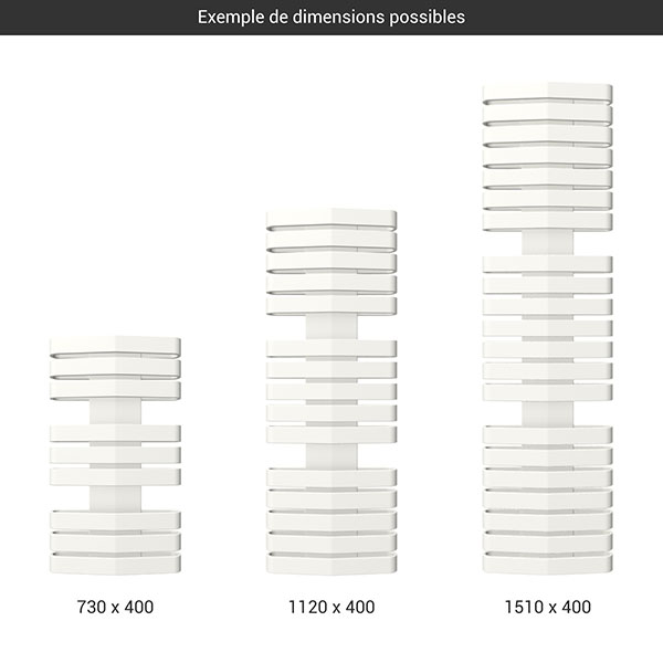 gamme seche serviettes iron d 400 blanc