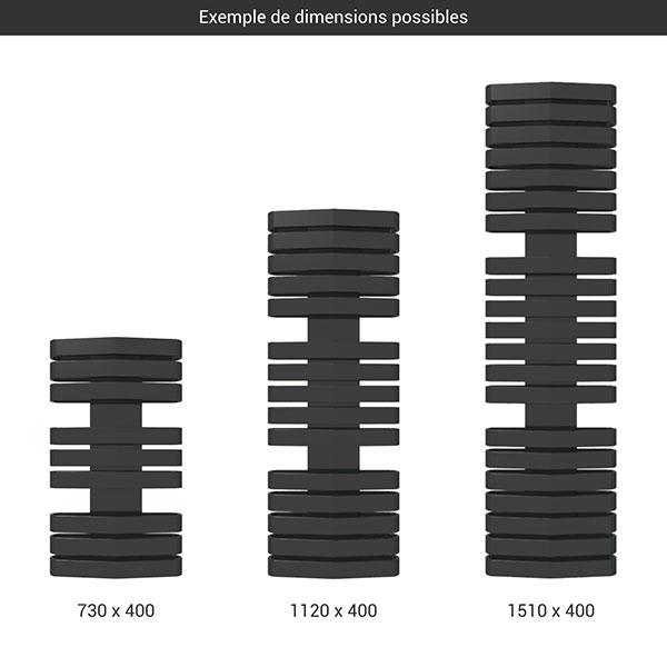 gamme seche serviettes iron d 400 noir
