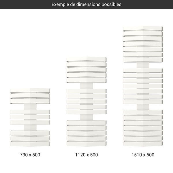 gamme seche serviettes iron d 500 blanc