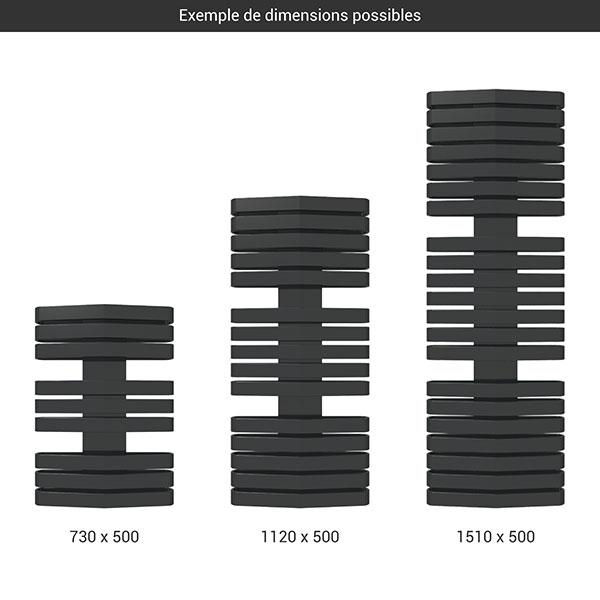 gamme seche serviettes iron d 500 noir