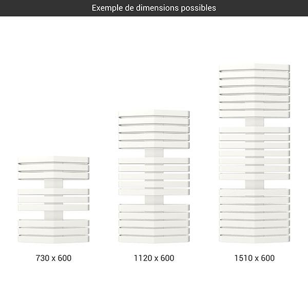 gamme seche serviettes iron d 600 blanc