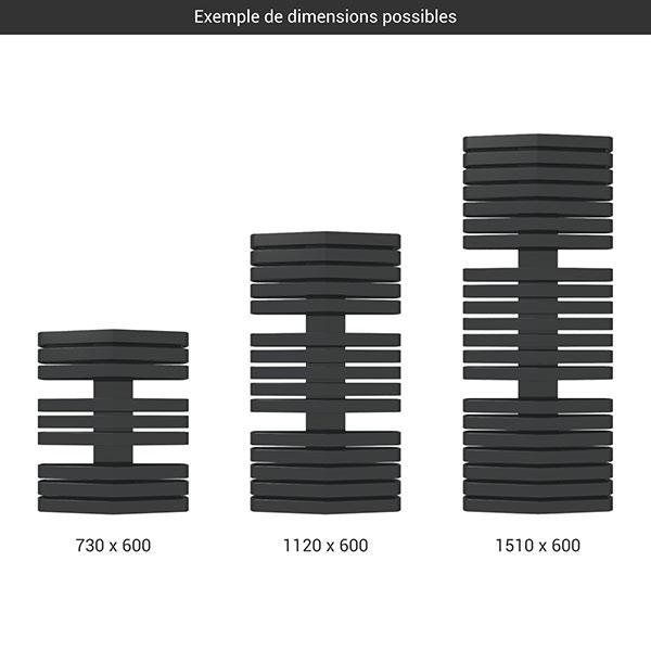 gamme seche serviettes iron d 600 noir
