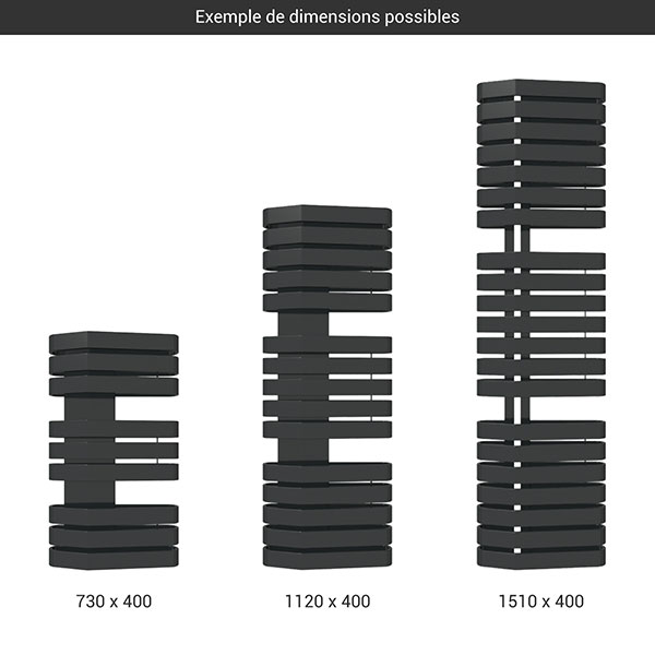 gamme seche serviettes iron s 400 noir