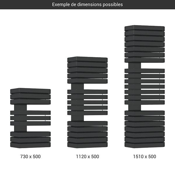 gamme seche serviettes iron s 500 noir
