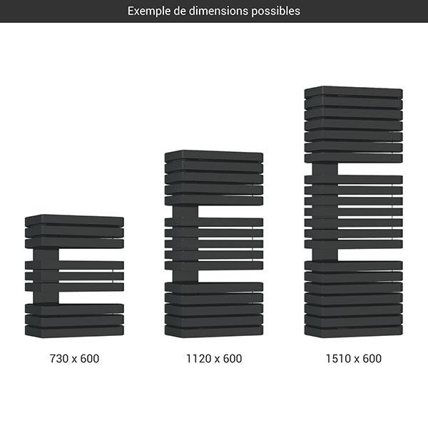 gamme seche serviettes iron s 600 noir