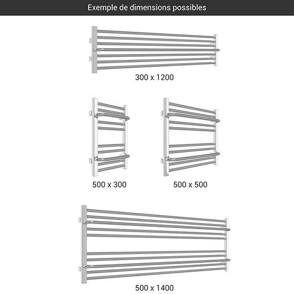 gamme seche serviettes lima h chrome