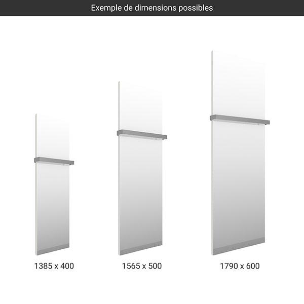 gamme seche serviettes miroir case slim blanc