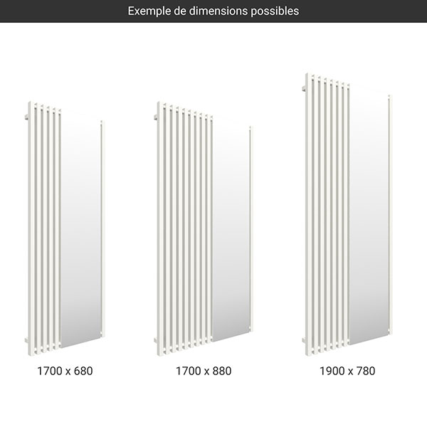 gamme seche serviettes miroir triga blanc