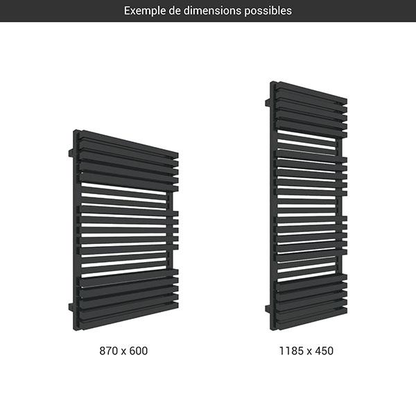 gamme seche serviettes quad bold noir