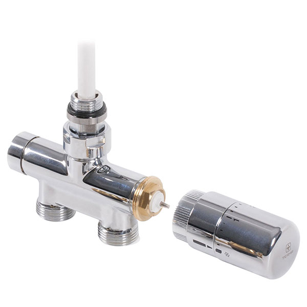 kit vanne thermostatique v2 sol droite chrome