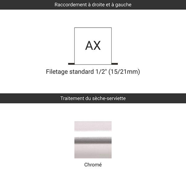 raccordement ax chrome