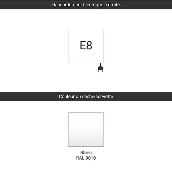 raccordement blanc e8 tablette etendage