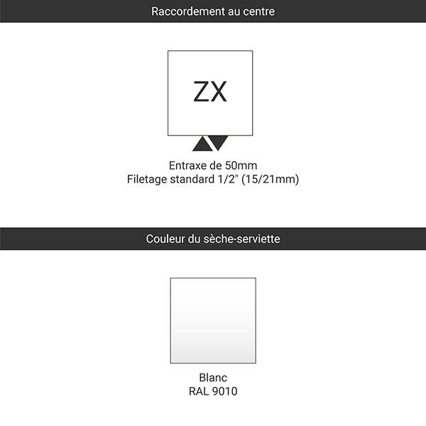 raccordement blanc zx tablette etendage
