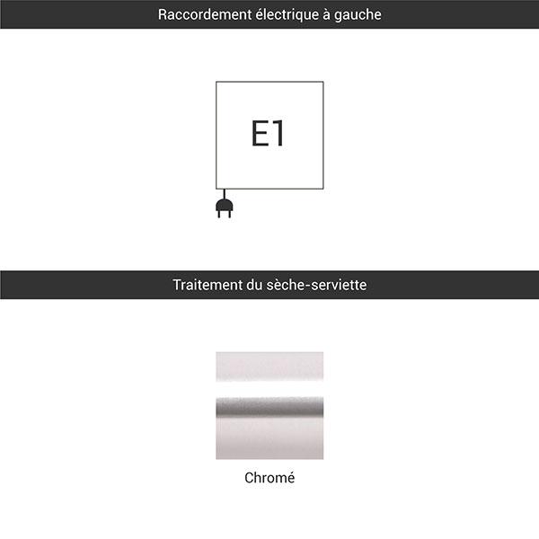 raccordement e1 chrome