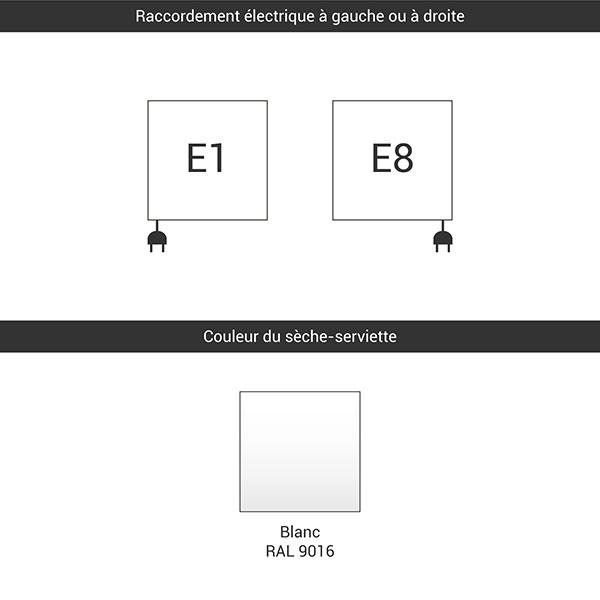 raccordement e1 e8 blanc