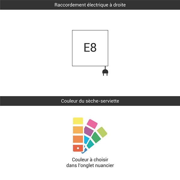 raccordement e8 couleur