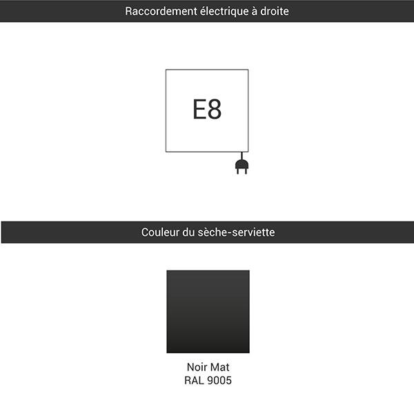 raccordement e8 noir