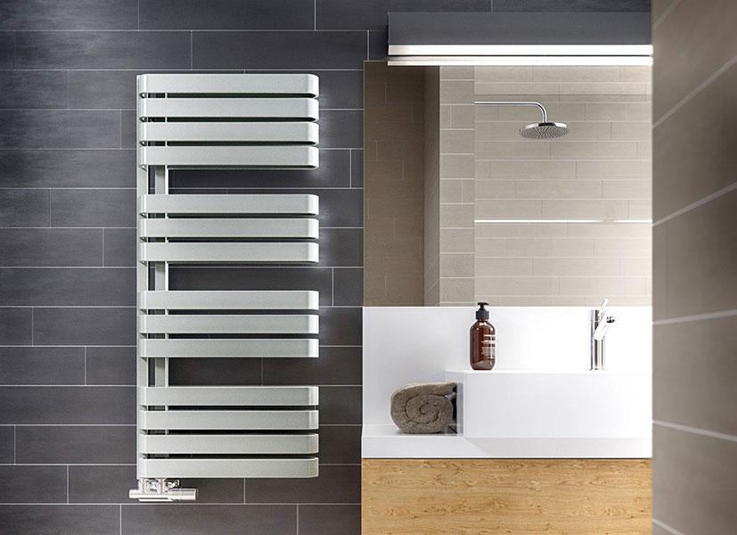 radiateur salle de bain gris clair warps
