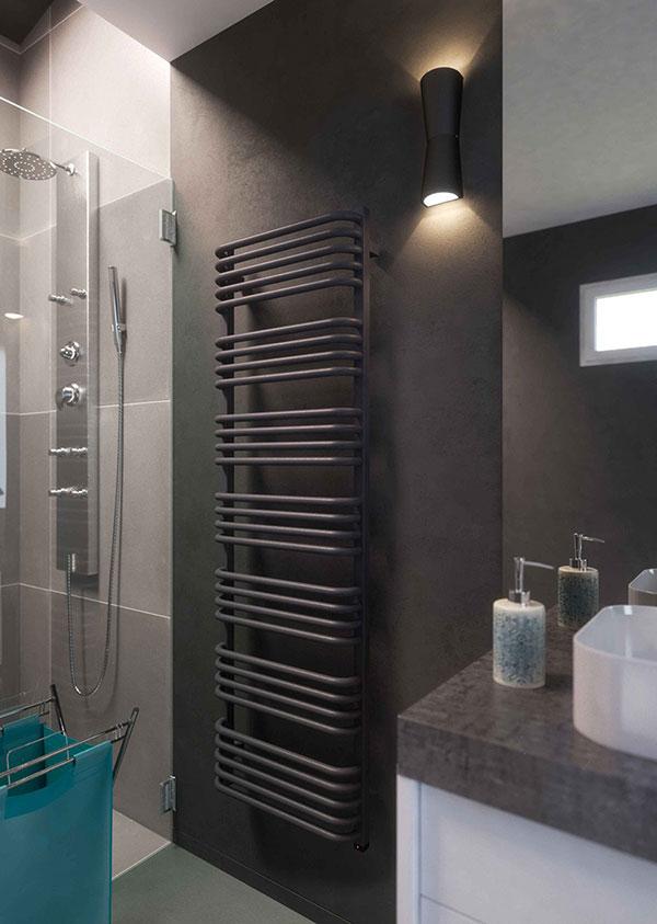 radiateur salle de bain noir alex