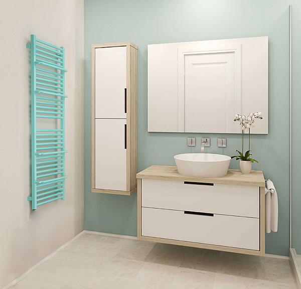 radiateur salle de bains lima bleu