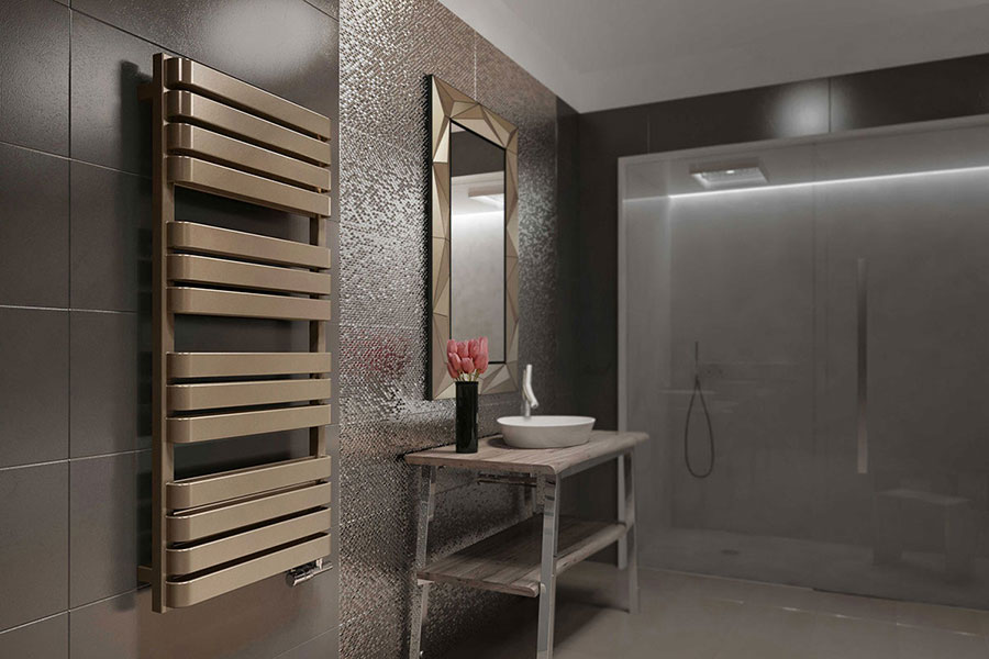 radiateur salle de bains marron warpt bold