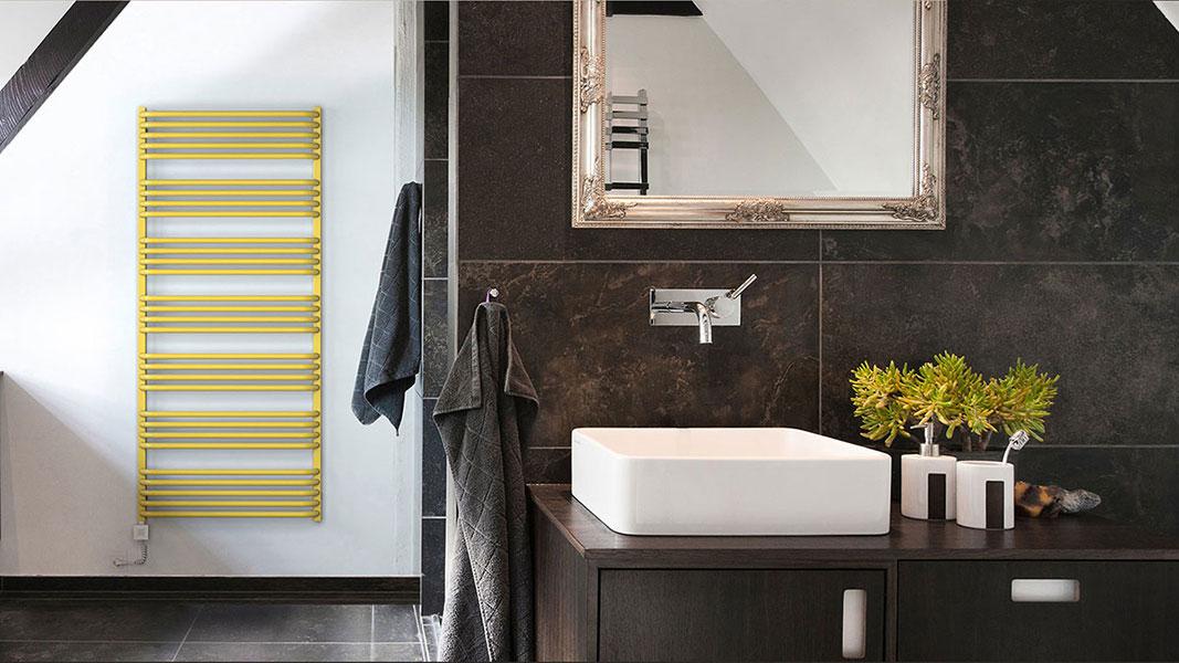 radiateur salle de bains sdb jaune alex