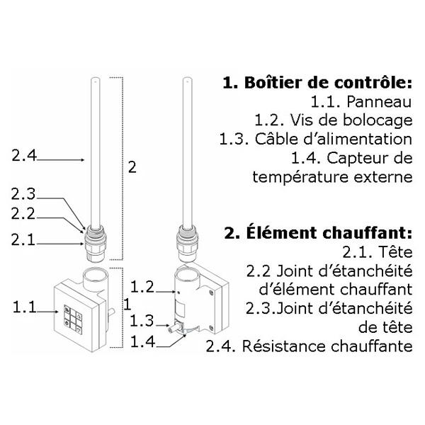 schema thermostat seche serviette