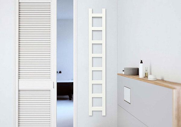 seche serviette etroit easy blanc mur